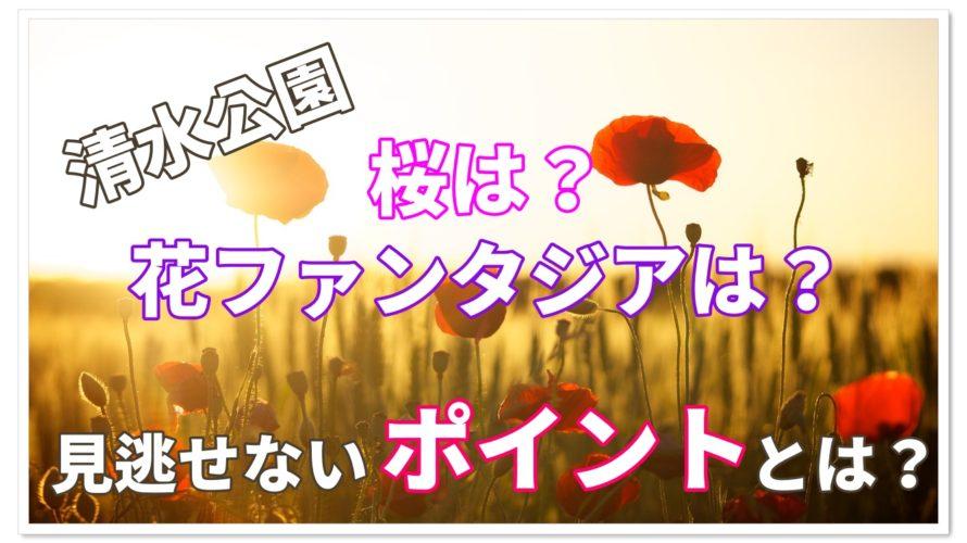 清水公園の桜は!?花ファンタジアは!?見逃せないポイント!