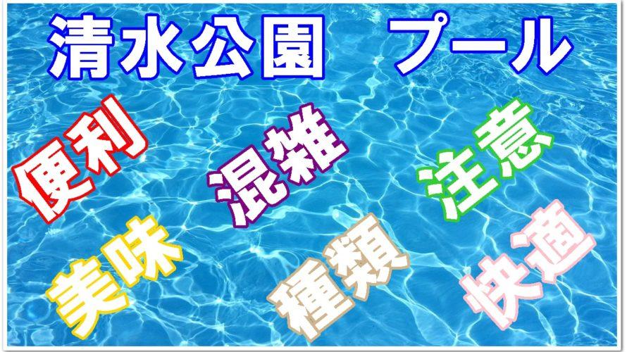 清水公園のプールには何がある??大満足するためのポイント‼