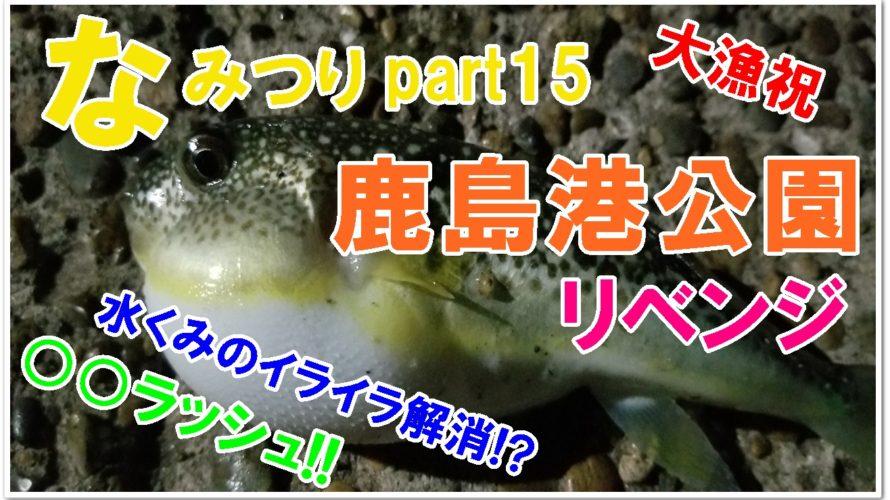 【なみつり】鹿島港公園でリベンジ!回遊魚はまだ釣れるのか?